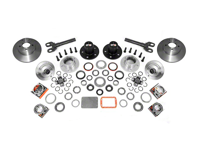 Alloy USA Manual Locking Hub Conversion Kit (97-06 Jeep Wrangler TJ)