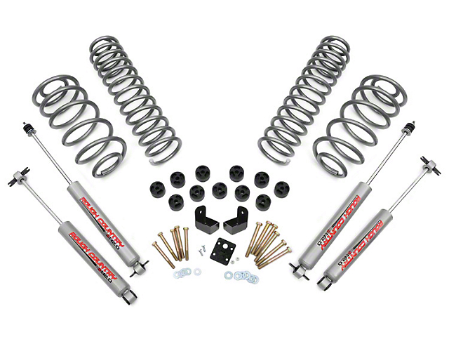 Rough Country 3.75 in. Combo Suspension Lift Kit (97-06 4.0L Jeep Wrangler TJ)