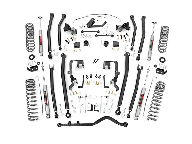 Rough Country 4 in. Long Arm Suspension Lift Kit w/ Premium N3 Shocks (07-11 Jeep Wrangler JK 4 Door)