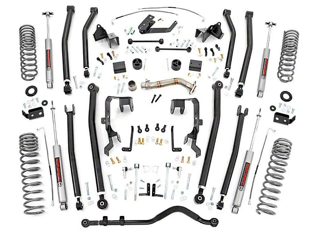 Rough Country 4 in. Long Arm Suspension Lift Kit w/ Premium N3 Shocks (12-18 Jeep Wrangler JK 4 Door)