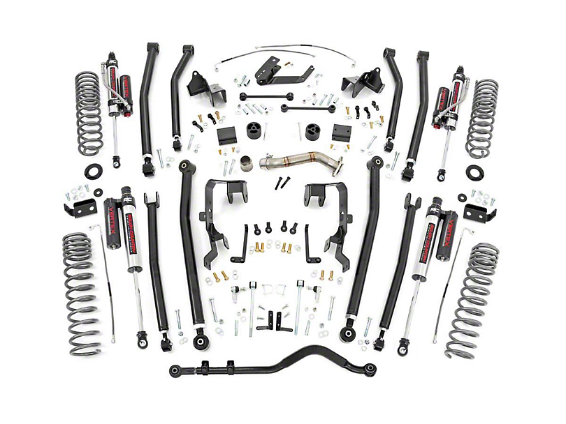 Rough Country 4 in. Long Arm Suspension Lift Kit w/ Vertex Reservoir Shocks (12-18 Jeep Wrangler JK 4 Door)