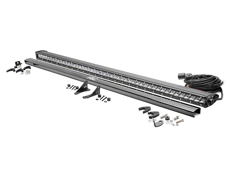 Rough Country 50 in. Chrome Series LED Light Bar w/ Cowl Mounting Brackets (18-19 Jeep Wrangler JL)