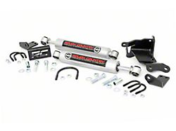 Rough Country Dual N3 Steering Stabilizer for 2.5+ in. Lift (18-20 Jeep Wrangler JL)