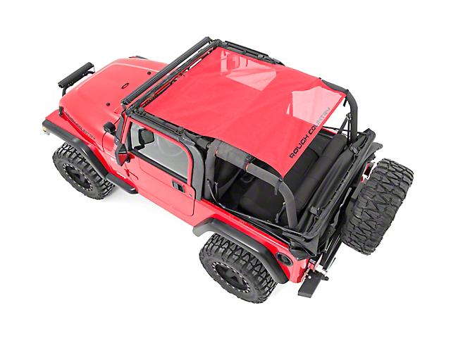 Rough Country Mesh Bikini Top Plus - Red (92-06 Jeep Wrangler YJ & TJ)