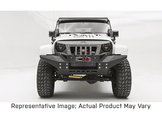 Fab Fours Front Full Width Grumper; Bare Steel (07-18 Jeep Wrangler JK)