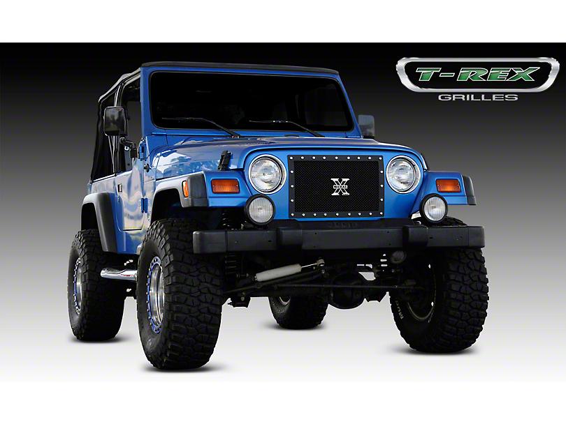 T-REX X-Metal Series Upper Grille Insert; Black (97-06 Jeep Wrangler TJ)