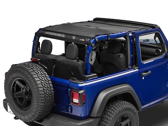 JTopsUSA Mesh Shade Top; Black (18-20 Jeep Wrangler JL 2 Door)