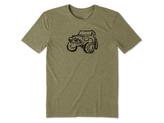 Life is Good Men's Let The Good Time T-Shirt - Fatigue Green