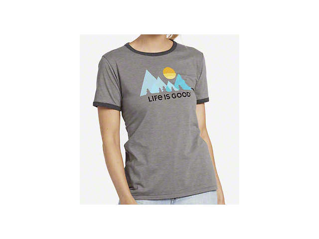 Life is Good Women's Minimalist Landscape T-Shirt - Slate Gray