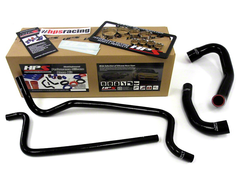 HPS Silicone Radiator Coolant and Heater Hose; Black (02-06 4.0L Jeep Wrangler TJ)