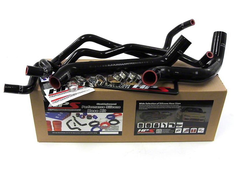 HPS Silicone Radiator Coolant & Heater Hose - Black (07-11 3.8L Jeep Wrangler JK)
