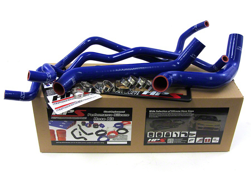HPS Silicone Radiator Coolant & Heater Hose - Blue (07-11 3.8L Jeep Wrangler JK)