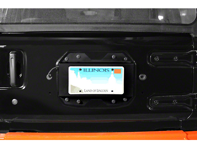 Steinjager Rear License Plate Relocator - Black (18-20 Jeep Wrangler JL)
