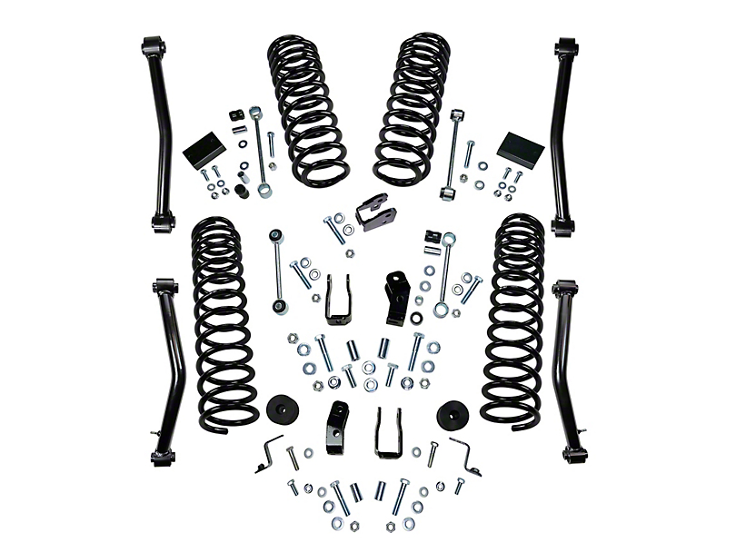SuperLift 4 in. Suspension Lift Kit w/ Shock Extensions (18-19 Jeep Wrangler JL 4 Door)