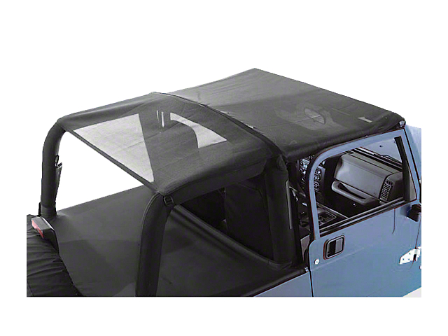 Rugged Ridge Roll Bar Top; Black Mesh (92-95 Jeep Wrangler YJ)