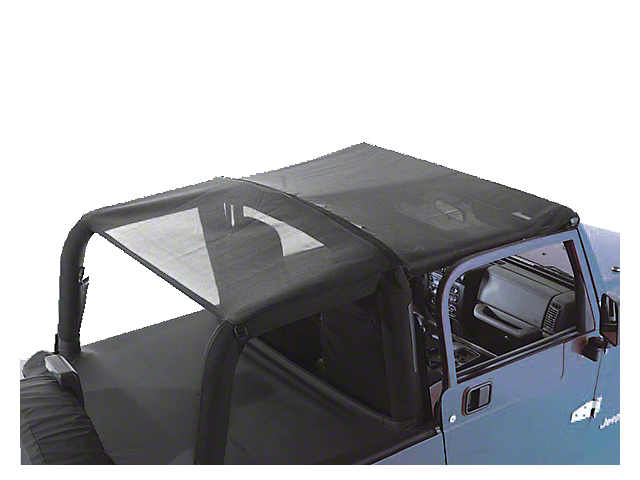 Rugged Ridge Roll Bar Top Header; Black Mesh (97-06 Jeep Wrangler TJ)