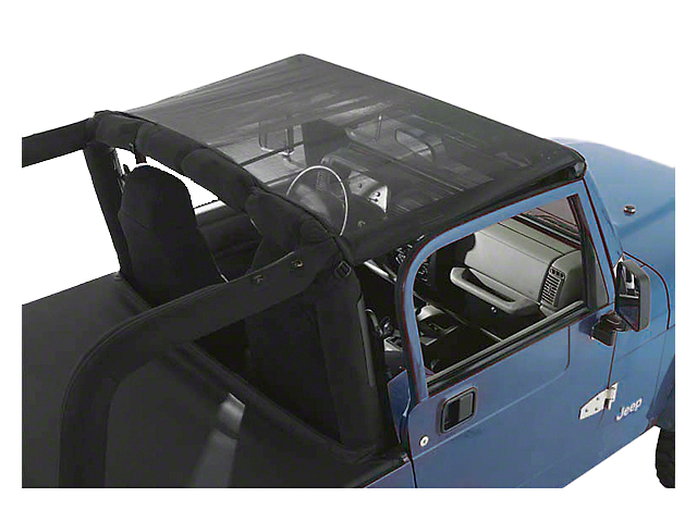Rugged Ridge Mesh Summer Brief Top; Black (92-95 Jeep Wrangler YJ)