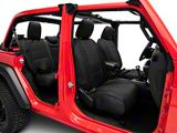 Smittybilt Neoprene Front and Rear Seat Covers; Black (18-21 Jeep Wrangler JL 4 Door, Excluding Rubicon)