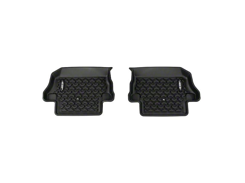 Rugged Ridge All-Terrain Rear Floor Mat; Black (18-20 Jeep Wrangler JL 2 Door)
