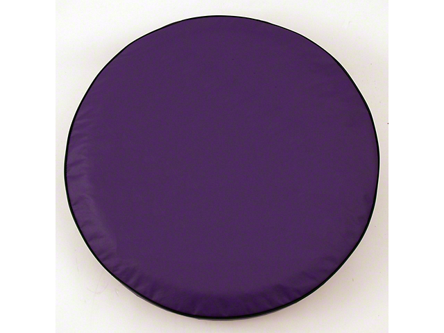 Spare Tire Cover - Solid Purple - 21 in. Tire Cover - Solid Size O (87-20 Jeep Wrangler YJ, TJ, JK & JL)