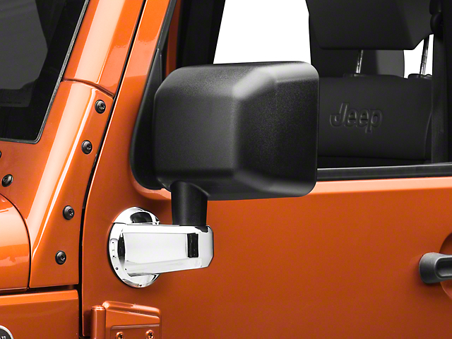 Rugged Ridge Mirror Arm Covers - Chrome (07-18 Jeep Wrangler JK)