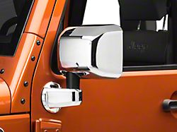 Rugged Ridge Door Mirror Covers with Mirror Arm Covers; Chrome (07-18 Jeep Wrangler JK)