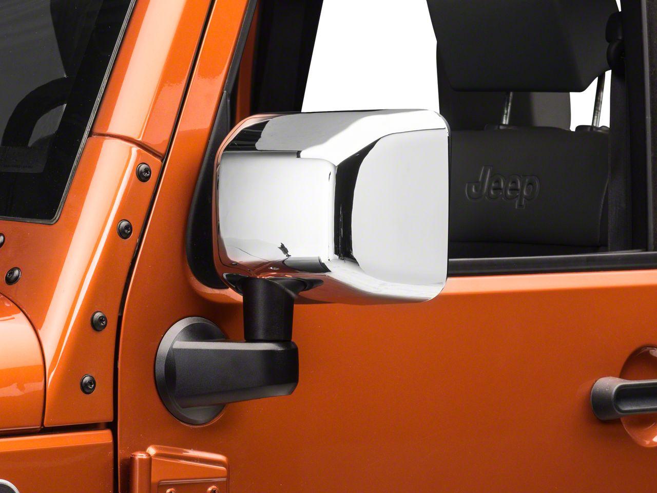 Rugged Ridge Mirror Covers - Chrome (07-18 Jeep Wrangler JK)