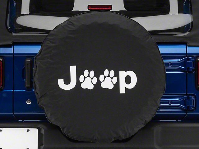 Jeep Paw Spare Tire Cover - Black (87-20 Jeep Wrangler YJ, TJ, JK & JL)