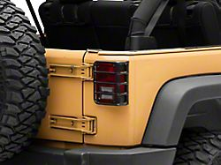 Tail Light Guards; Black (07-18 Jeep Wrangler JK)