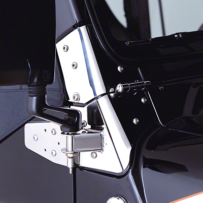 Rugged Ridge Mirror Relocation Brackets - Stainless Steel (97-02 Jeep Wrangler TJ)