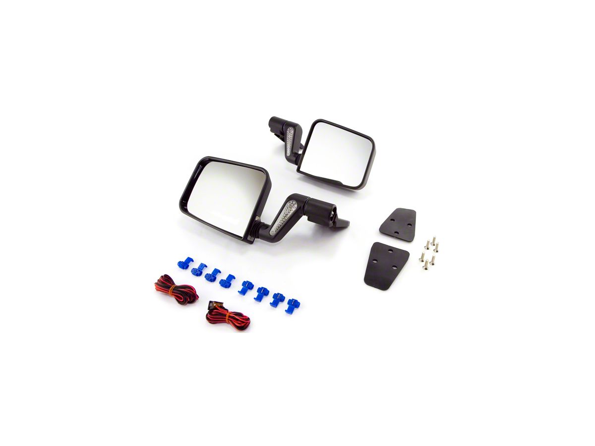 Side View Door Mirrors PAIR for Jeep Wrangler TJ YJ 1987-2006 Rugged Ridge