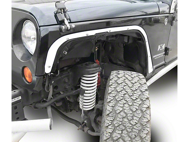 Steinjager Front Fender Deletes; Cloud White (07-18 Jeep Wrangler JK)