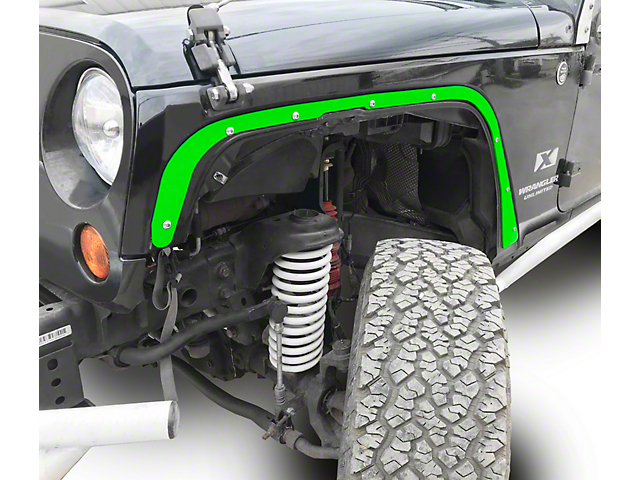 Steinjager Front Fender Deletes - Neon Green (07-18 Jeep Wrangler JK)