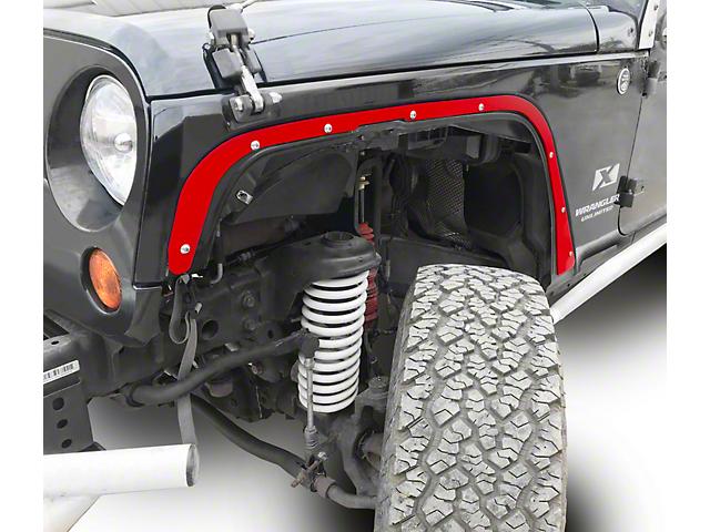 Steinjager Front Fender Deletes - Red Baron (07-18 Jeep Wrangler JK)