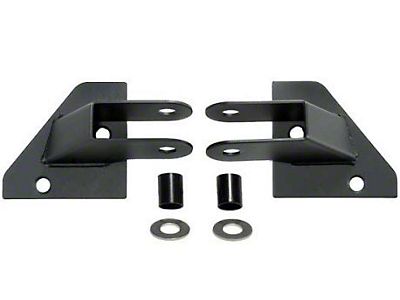Rugged Ridge Mirror Relocation Brackets - Black (87-95 Jeep Wrangler YJ)