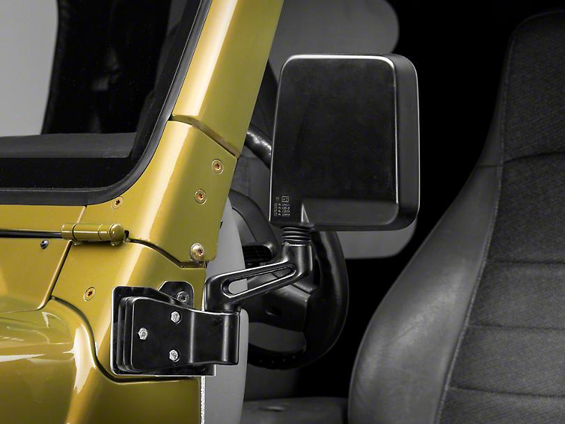 Mirror Relocation Brackets - Stainless Steel (03-06 Jeep Wrangler TJ)