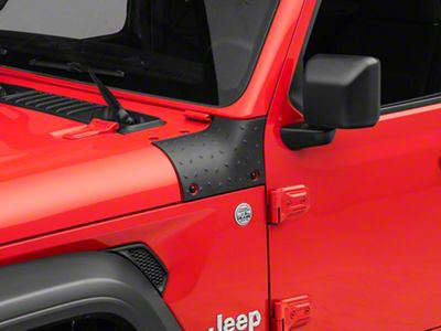 Black for 2018-2021 Jeep Wrangler JL JLU /& Gladiator JT Sahara Sport Rubicon Cowl Body Armor Outer Cowl Covers Corner Guards Cover Trim Exterior Accessories 2PCS
