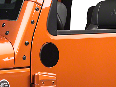 Rugged Ridge Mirror Relocation Filler Plates - Black (07-18 Wrangler JK)