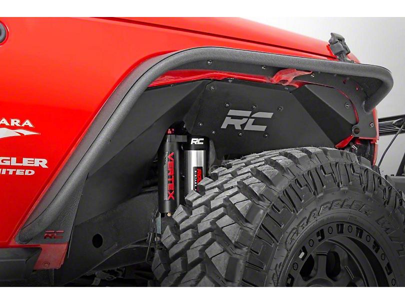Rough Country Front Inner Fenders for Vertex Shocks (07-18 Jeep Wrangler JK)