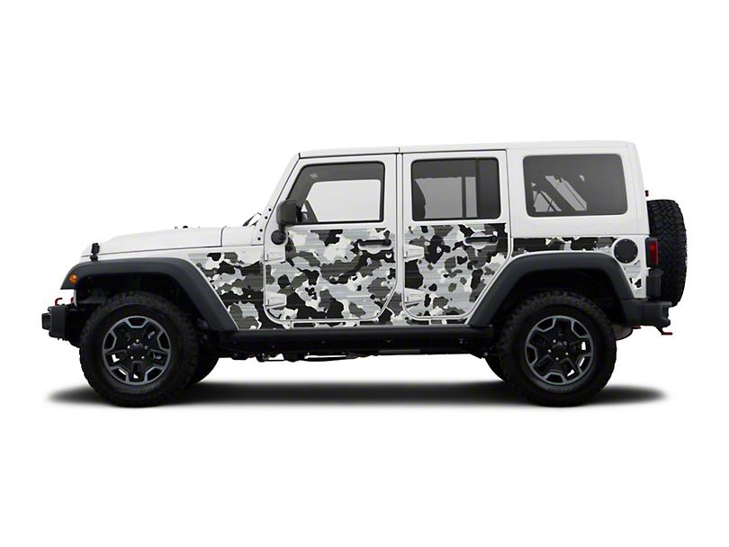 Mek Magnet Magnetic Body Armor; Winter Camo (07-18 Jeep Wrangler JK 4 Door)
