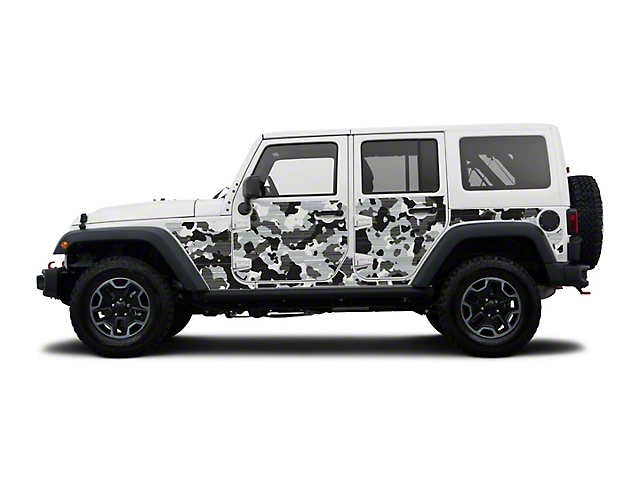 Mek Magnet Magnetic Body Armor; Winter Camo (07-18 Jeep Wrangler JK 4 Door)