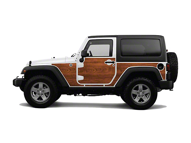 Mek Magnet Magnetic Body Armor; The Woody (07-18 Jeep Wrangler JK 2 Door)