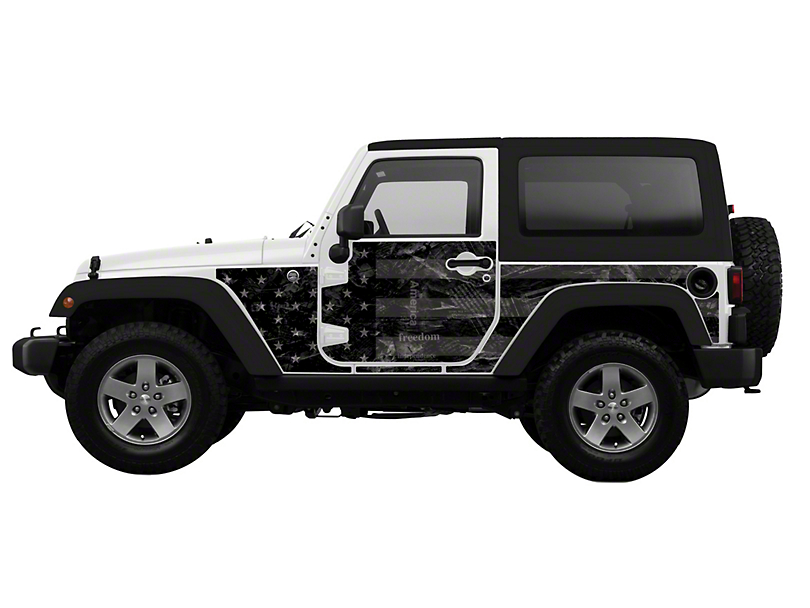 Mek Magnet Magnetic Body Armor - Black Flag (07-18 Jeep Wrangler JK 2 Door)