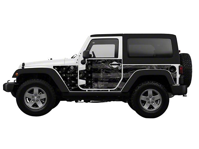 Mek Magnet Magnetic Body Armor; Black Flag (07-18 Jeep Wrangler JK 2 Door)