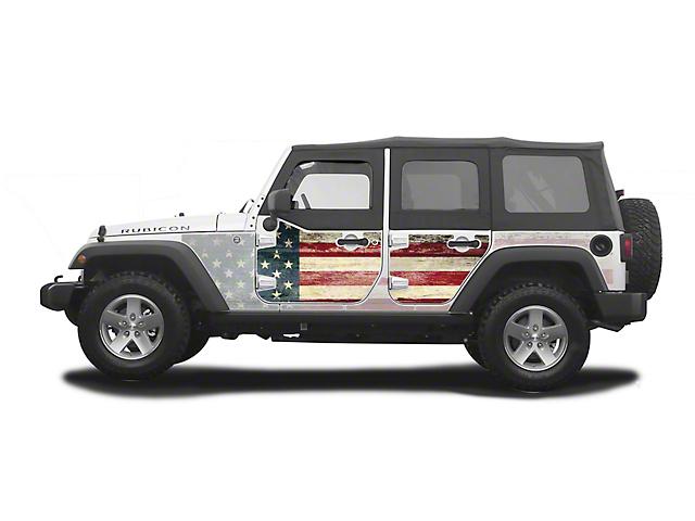 Mek Magnet Magnetic Half Door Body Armor; The Patriot (07-18 Jeep Wrangler JK 4 Door)