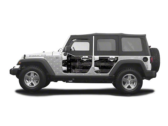 Mek Magnet Magnetic Half Door Body Armor - Black Flag (07-18 Jeep Wrangler JK 4 Door)