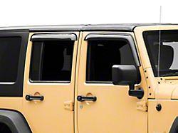 RedRock 4x4 Window Deflectors; Front and Rear; Smoked (07-18 Jeep Wrangler JK 4-Door)
