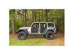 Rugged Ridge Fortis Front and Rear Tube Door Covers; Black (18-21 Jeep Wrangler JL 4 Door)