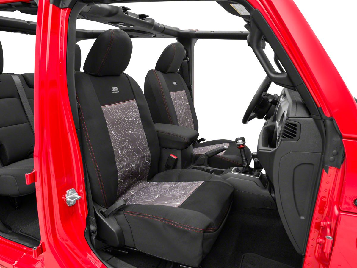 Jeep Wrangler Seat Covers >> Arb Seat Skin Front Seat Covers Black 18 20 Jeep Wrangler Jl 4 Door