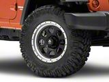Mammoth 8 Aluminum Beadlock Black Wheel; 17x9 (07-18 Jeep Wrangler JK)
